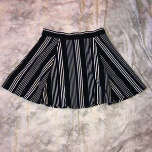 H&M Striped Circle Skirt